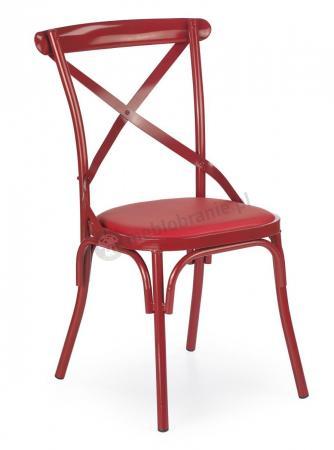 Najnowsze Metalowe czerwone krzesło w stylu retro K216 Halmar - Meblobranie.pl NJ41