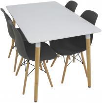 Stół i krzesła do kuchni w stylu skandynawskim