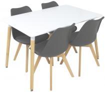 Stół i krzesła do jadalni styl skandynawski