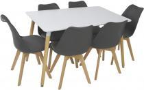 Stół do jadalni z krzesłami design skandynawski