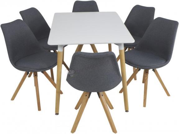 Stół I Krzesła Do Salonu Skandynawski Styl