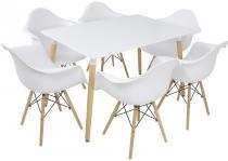 Stół i 6 krzeseł do jadalni styl skandynawski