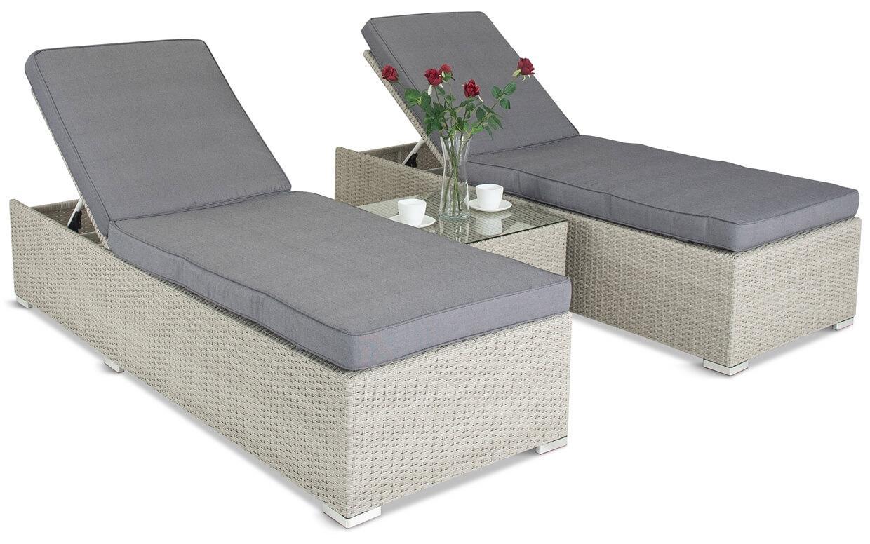 Komplet łóżek z technorattanu Meniza