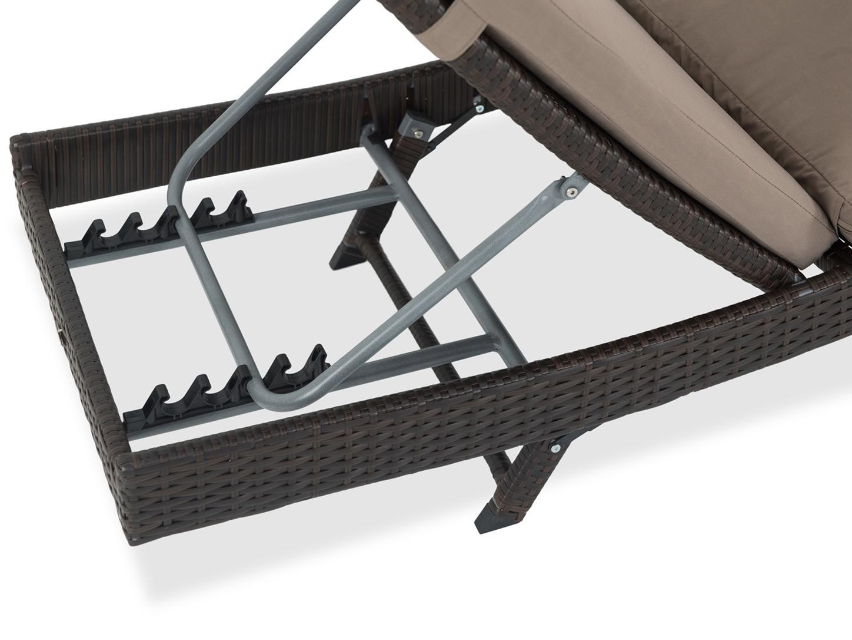 Leżak nilamito system składania