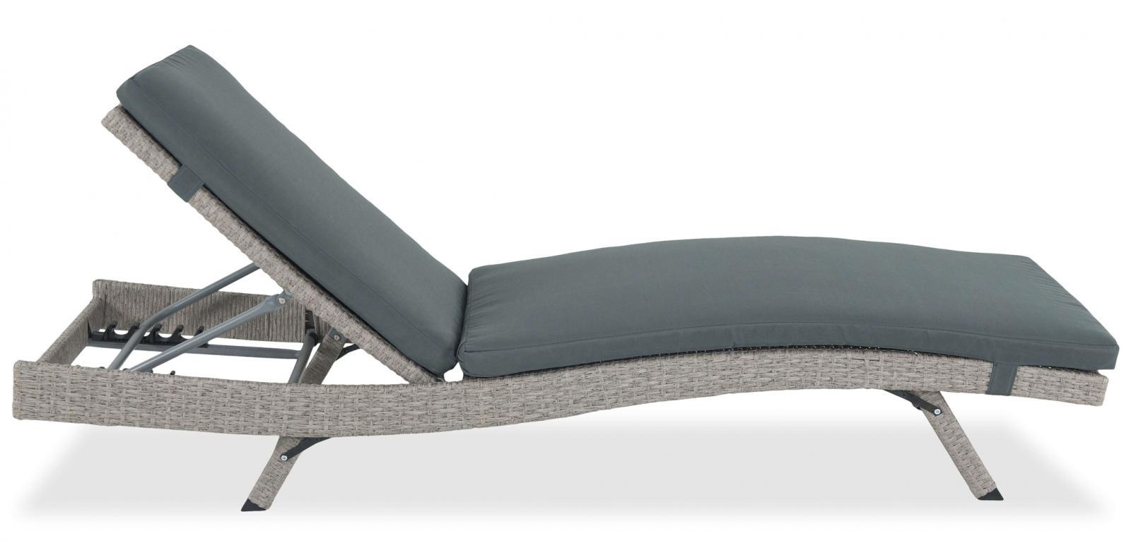 Leżak Nilamito Grey - Dark Grey