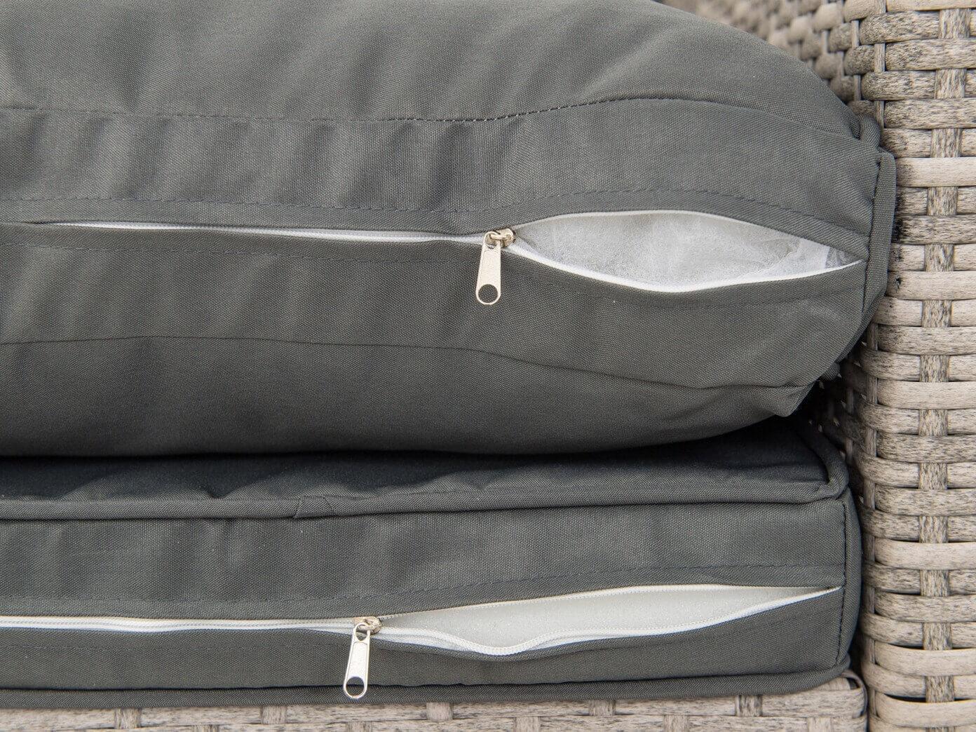 Stefano Grande Grey - poduszki ze zdejmowanymi pokrowcami