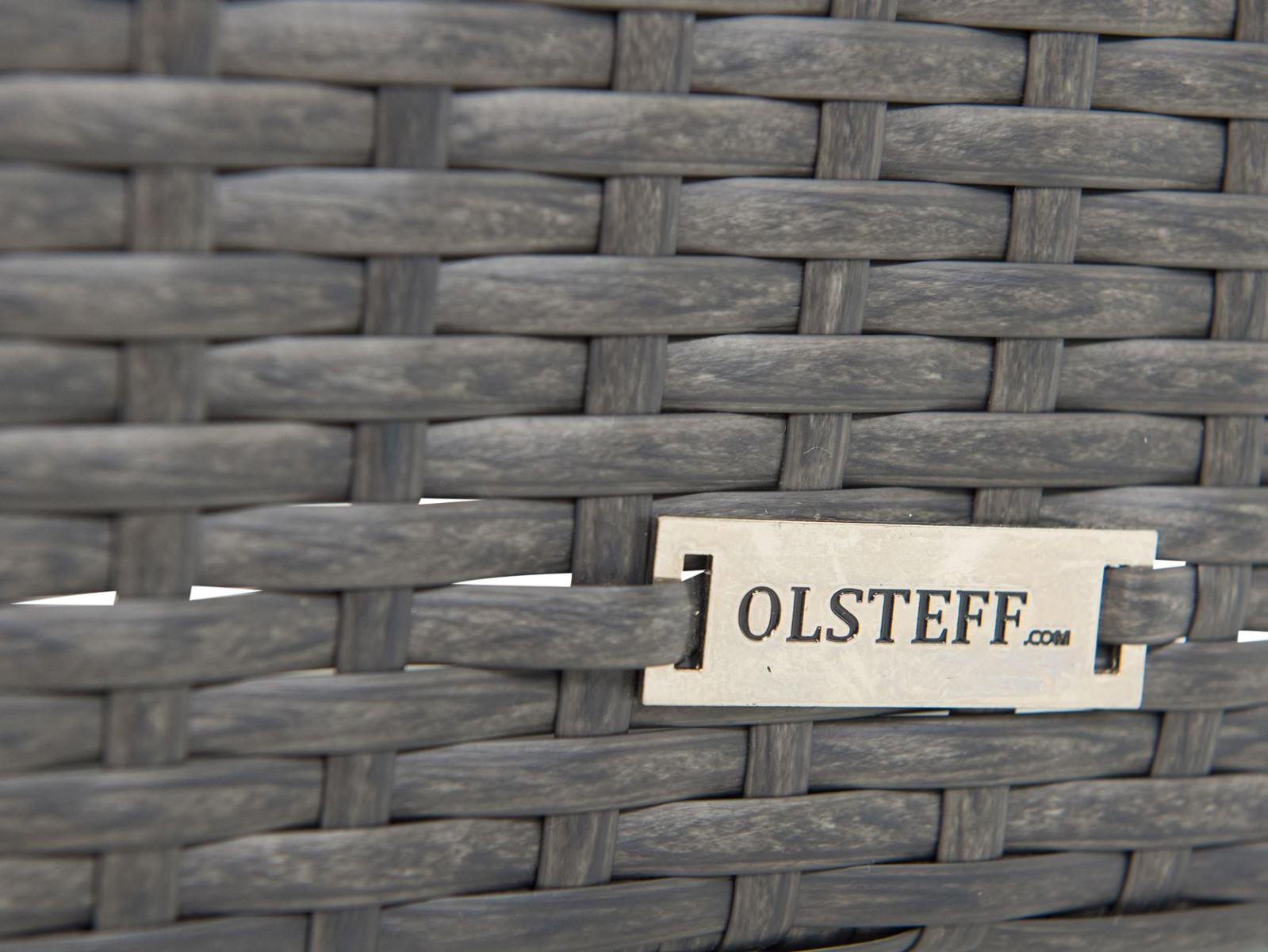 fotel ogrodowy technorattanowy Flavio antracite - plecionka