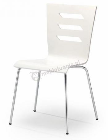 Białe Krzesło Do Kuchni Chromowane Nóżki K155 Halmar