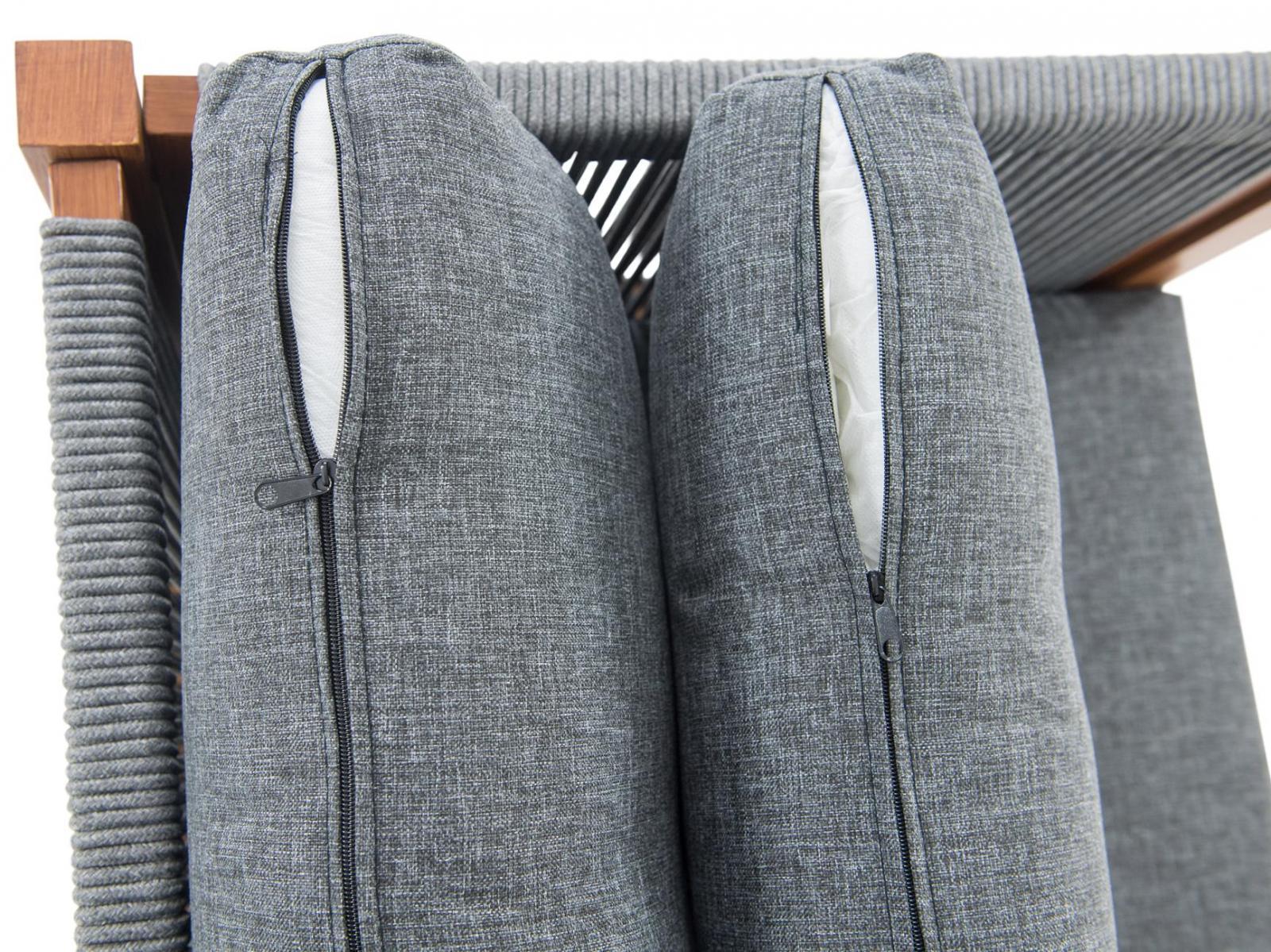 narożnik tarasowy z aluminium Panama - poduszki