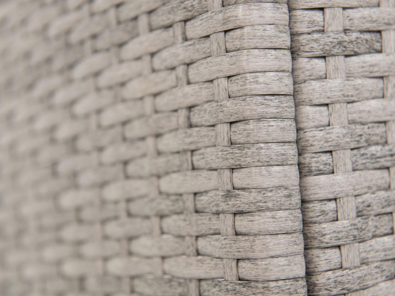 Lautaro antracite - plecionka i blat