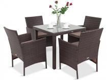 Zestaw 4 krzesła i stół Capitano/Flavio 4+1 Brown