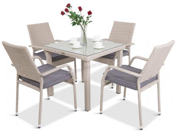 Meble Obiadowe 4 Krzesła I Stół Capitanolautaro 41 Double Grey