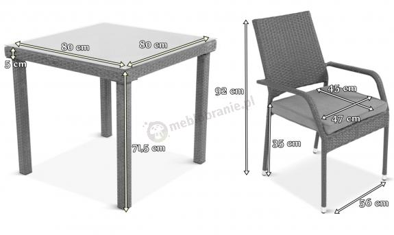 Meble Obiadowe 4 Krzesła I Stół Capitanolautaro 41 Double