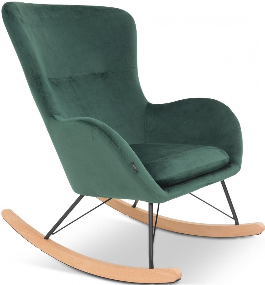 fotel bujany butelkowa zieleń