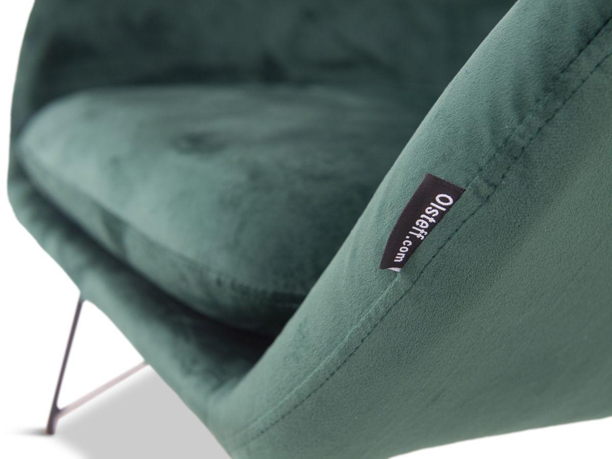 poduszka w fotelu bujanym zielonym