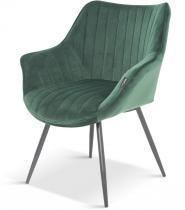 Tapicerowane ciemnozielone krzesło Bergen