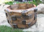 drewniana Donica ogrodowa o przekątnej 52 cm ceny
