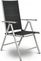 Krzesło ogrodowe stabilne rozkładane Sydney Silver