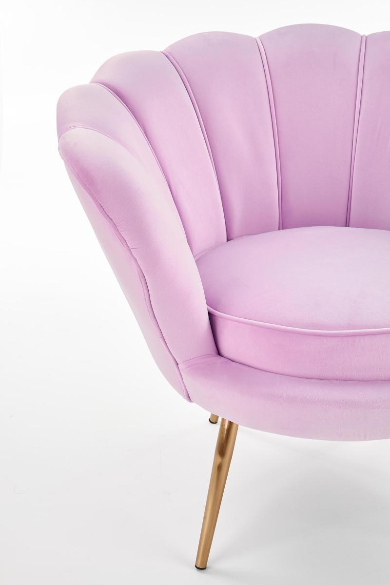 Amorino fotel ze złotymi nogami róż