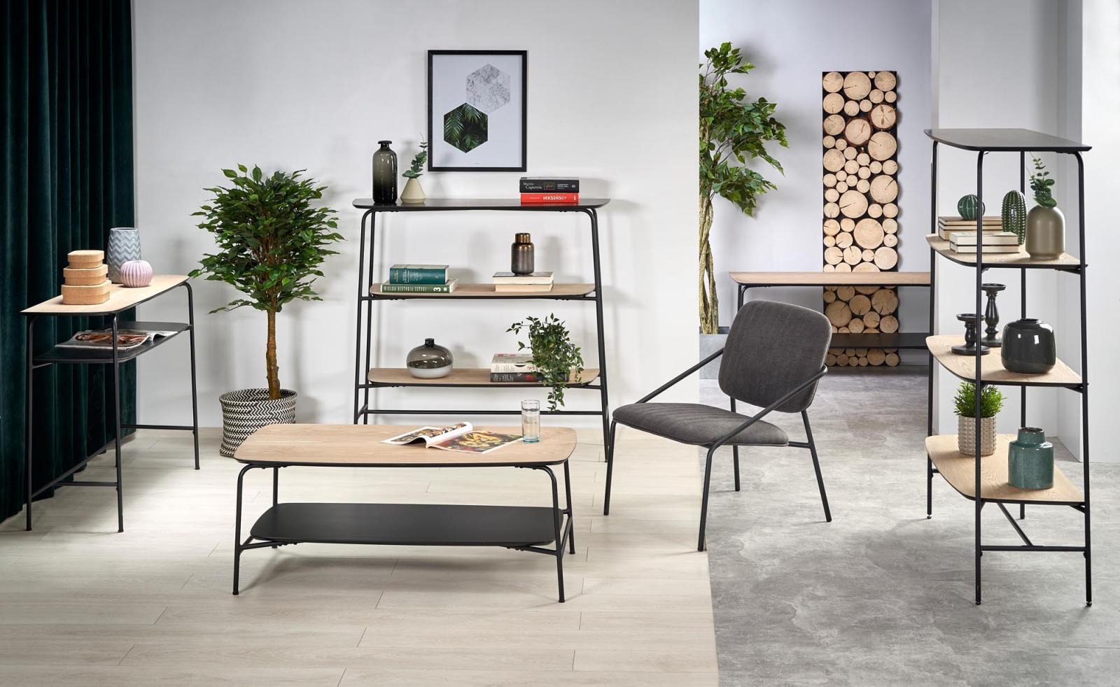 Minimalistyczne meble w stylu loftowym - regał Genua REG2