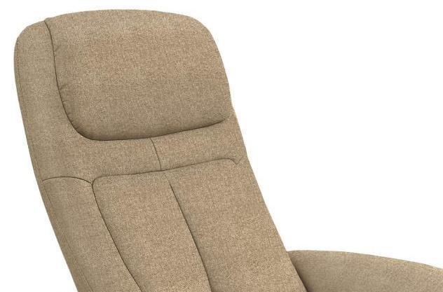 Fotel Optima 2 tapicerowany beżowy - zbliżenie