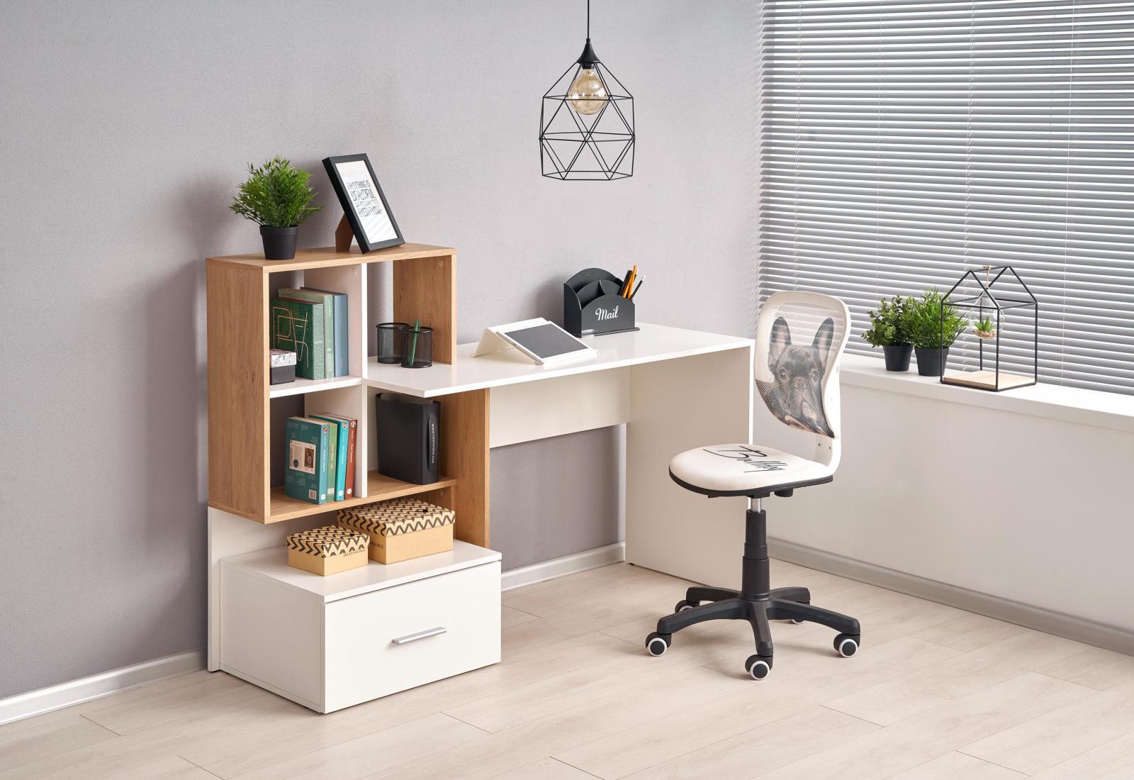 Halmar ESKIMO B 1 biurko biały Meblobranie.pl