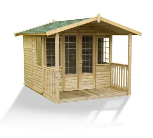 Klasyczny domek ogrodowy 250 x 220 z werandą