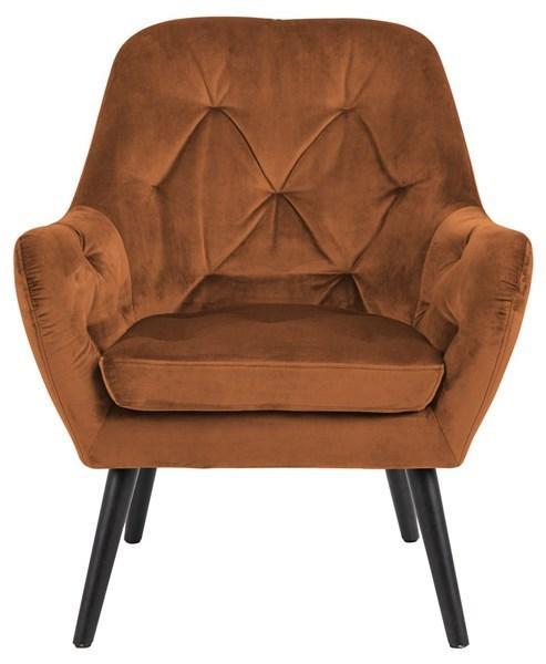 miedziany fotel retro