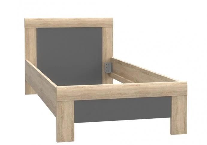 Stelaż łóżka młodzieżowego dąb Sonoma łóżko dziecięce 90x200 cm