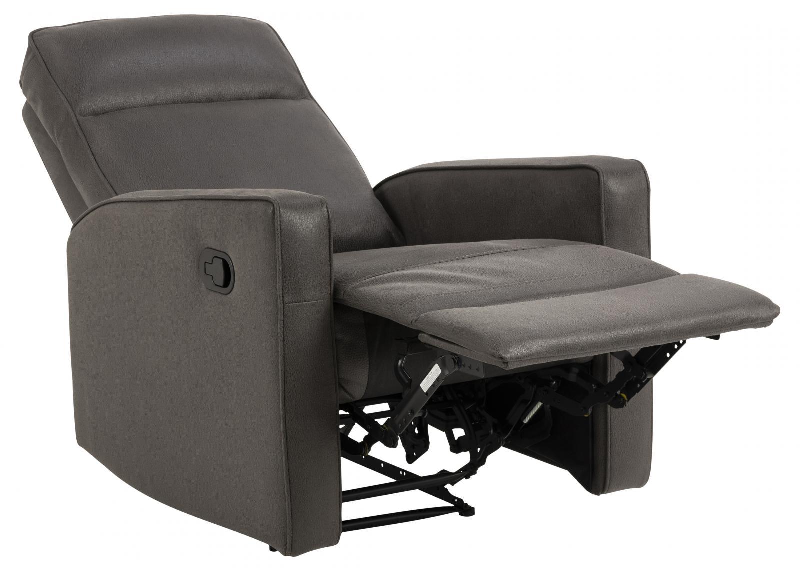 Szary rozkładany fotel do salonu