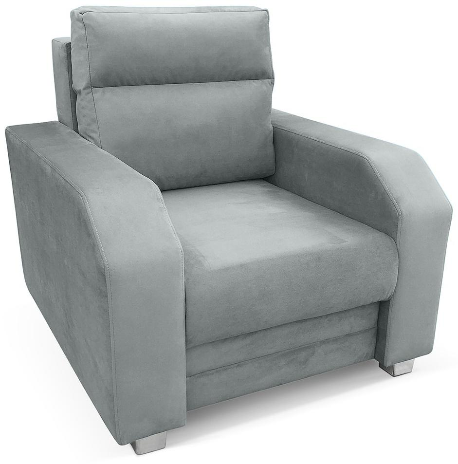 szary wygodny fotel do salonu