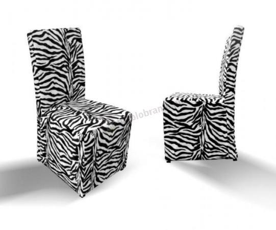 krzesło pełne proste zebra