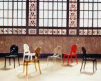 Krzesło Elizabeth Glossy Black - krzesła z tworzywa
