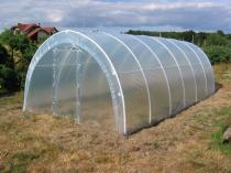 Tunel ogrodowy z metalowymi drzwiami 4 * 3m