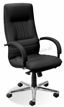 Linea Steel fotel skórzany do gabinetu