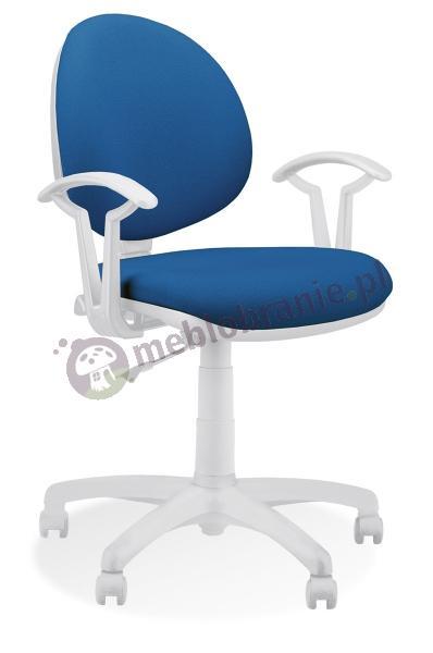 Smart White GTP27 białe krzesło obrotowe