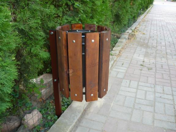 Kosz na śmieci do wkopania lub wbetonowania