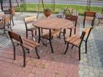 Komplet Mebli Ogrodowych Stół i 4 Krzesła