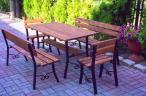 Komplet Mebli Ogrodowych: stół, ławki, krzesła