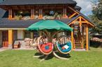 Drewniany Fotel wiszący Quadro z bawełnianymi poduchami opinie, ceny