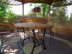 Stół żeliwno drewniany
