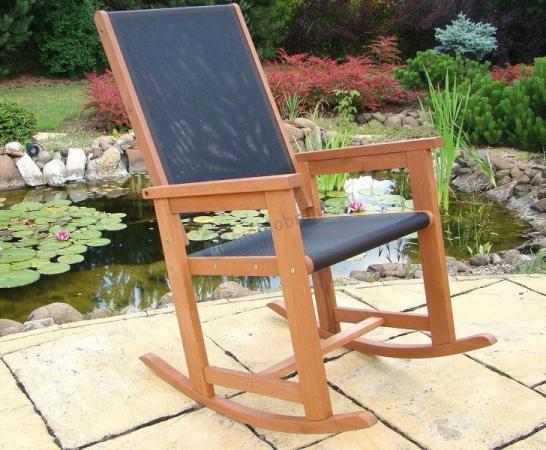 Krzesło Bujane Meranti Czarne sklep internetowy