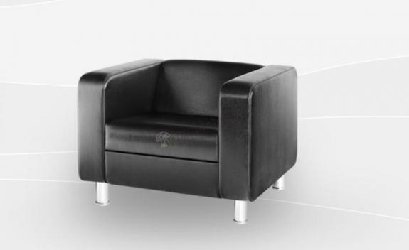 Fotel Cubby 4N chrome obicie skórzane