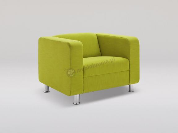 Fotel Cubby 4N chrom obicie tkaninowe