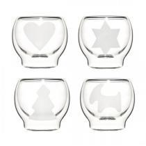 4 szklaneczki o podwójnych ściankach Sagaform Christmas