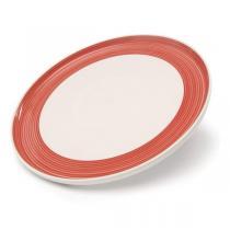 Talerz, czerwone obrzeże Sagaform Egg'n Breakfast