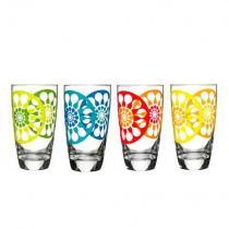 szklanki wysokie 4 szt. różne kolory Sagaform Juicy