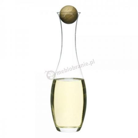 Karafka na wino z dębowym korkiem, poj. 1l Sagaform Oval Oak