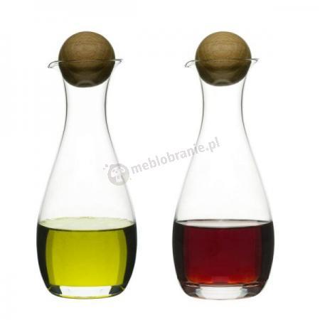 Zestaw dwóch buteleczek na oliwę i ocet, 0,3 l Sagaform Oval Oak