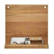 Wielofunkcyjny nóż z deską Sagaform Oval Oak